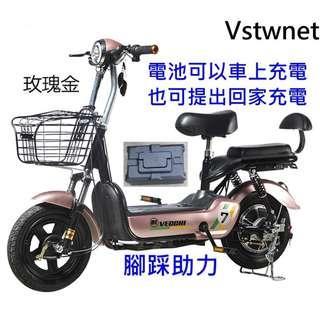 [廠商直銷]電動機車電池可拆卸 腳踩助力 續航50~100公里 電動機車電動自行車 電動車 電動摩托車 電動腳踏車代步車