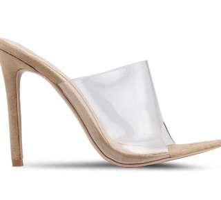 Missguided Transparent Heel (Square Toe Clear illusion patent heels)