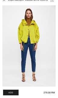 Raincoat Zara Lime