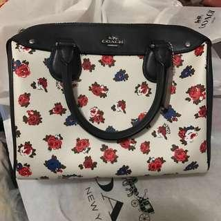 Coach bag Kate spade navy blue with floral pattern