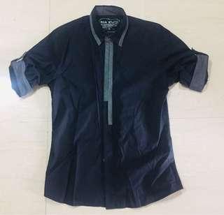 🚚 Men's Shirt black & white!