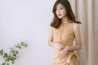 Beige Bodycon Dress L