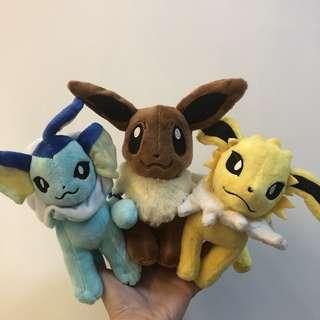 Pokemon 伊貝 雷伊貝水伊貝公仔