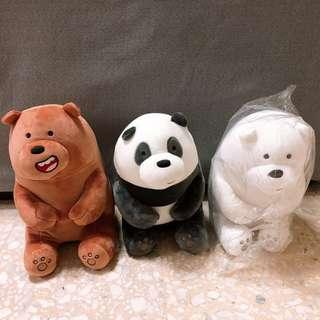 We Bare Bear Soft Toy