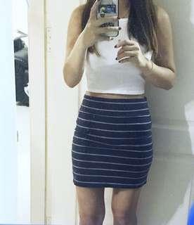 Stripe Bandage Skirt