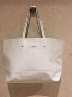🚚 Furla white tote bag