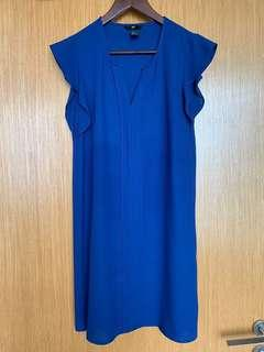 🚚 Preloved H&M Blue Dress