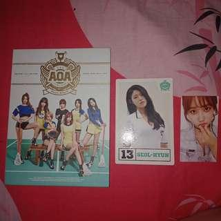 AOA Heart Attack Album with Seolhyun postcard and Yuna photocard