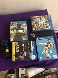 Playstation 4 pro 1tb  with 4 games
