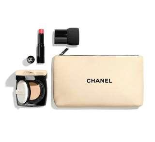 🚚 BN Chanel Les Beiges Healthy Glow Touch-Up Set  N°20~Foundation / Lip Balm / Brush