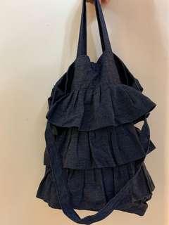 日本 Coen藍色牛仔兩用手挽袋 2-way Tote bag