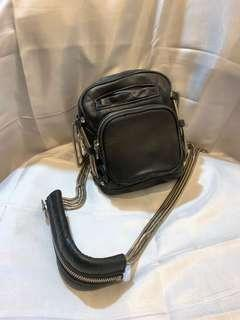 Alexander wang washed leather crossbody bag 斜孭袋,手袋
