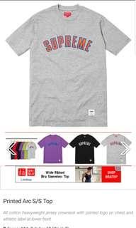 🚚 Supreme Grey Arc Tshirt