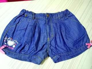 女童 牛仔軟布 燈籠褲 10 號