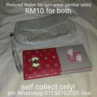 Preloved Wallet Set