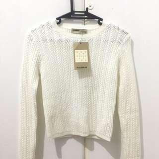 Pull & Bear Cropped Knit Sweater