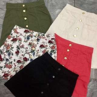 H&M Button down A-Line Skirt