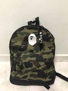 10dc6ea1c656c5 Bape Camo backpack (FREE BAPE LONG SLEEVE TEE)