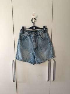 Zara Denim Highwaisted Mom Shorts