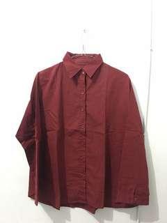 Red katun shirt