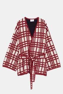 Zara Plaid Kimono - Medium
