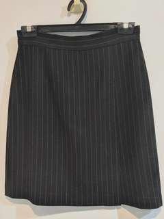 Black Striped Skirt