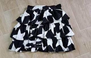 Star Black & White Skirt