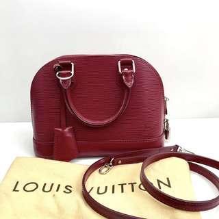 Authentic Pre-loved Louis Vuitton Alma BB Epi Leather