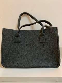 日本 ZUCCA絨布手袋 Handbag