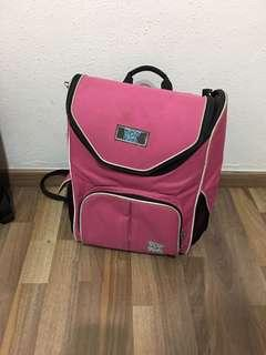 🚚 Pink ergonomic girl school bag