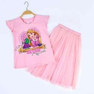 Preorder Rapunzel Disney Princess style 2pcs set