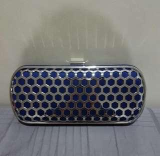 Silver Caged Clutch Bag