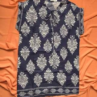 BLUE ETHNIC DRESS