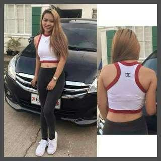 SALE! Assorted colors! Limited Stocks only! Chanel Inspired Racerback Top (FS: Stretch, fits S - M )