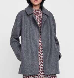 Zara oversized wide Lapel spring coat size S