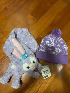 香港迪士尼 Stella Lou 頸巾+冷帽 保暖