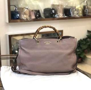 Authentic Pre-loved Gucci Bamboo Shopper Leather Tote
