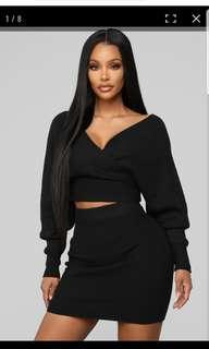 Fashion Nova Cuddle Me Now Skirt Set small