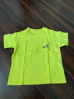 🚚 UNIQLO Kids - Green Donald with pocket Tee