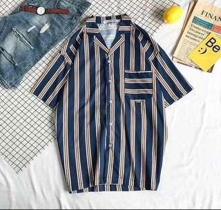 Stripe Short Sleeves Shirt