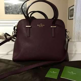 Kate spade satchel burgundy