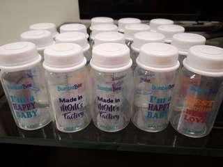(Free 6 bottle 7oz) 18 Bumble Bee Breastmilk Storage Bottles