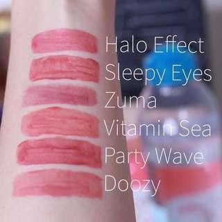 🚚 Colourpop Halo Effect, Sleepy Eyes, Zuma, Doozy Ultra Blotted Lip