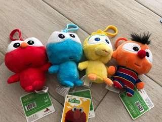 Sesame Street keychains
