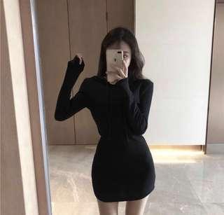 Elle Bodycon Hoodie Dress