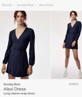 Aritzia Sunday Best Wrap Dress