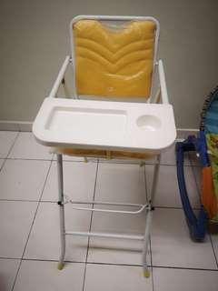 (90% new) foldable baby high seat chair