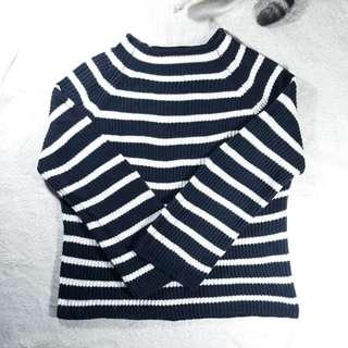 Sweater Mango Garis Garis Navy Putih