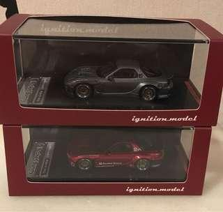 Ignition model IG Rx7 metallic red titanium gray 日本限定 灰 紅