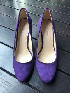 🚚 Purple Suede Pumps Heels